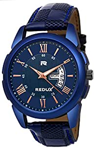 Redux Analogue Day Date Functioning Men's & Boy's Watch (Blue)
