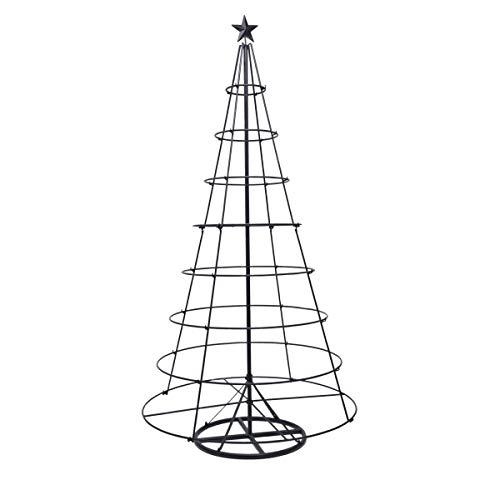 Pureday Weihnachtsdeko - Dekoobjekt Modern Tree - Weihnachtsbaum - Metall - Schwarz - Höhe ca. 185 cm