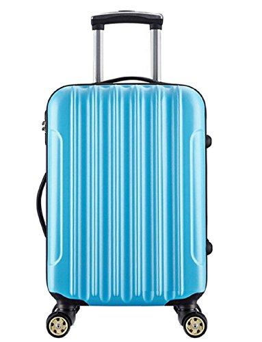Maleta de 20 Pulgadas con 4 ruedas con candado como equipaje de mano / cabina de material ABS para vuelos low-cost Azul