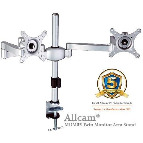MDM05 Dual LCD Monitor Stand w/ Swivel Arm & desk