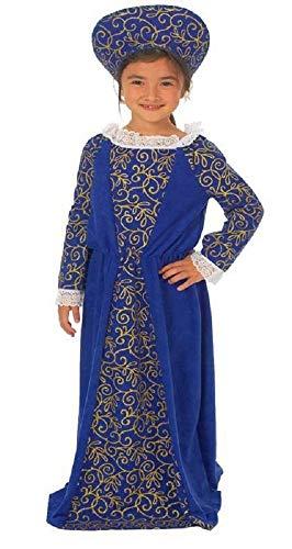 Girl'Child's s, rot oder blau, Frischegefühl Tudor Book Tag Mittelalter Outfit Kostüm Mädchen