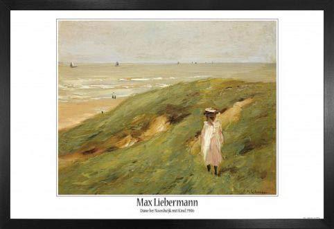 Max Liebermann Poster und MDF-Rahmen - Düne Bei Noordwijk Mit Kind, 1906 (91 x 61cm)