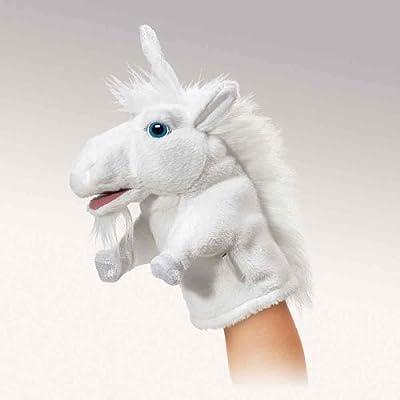 Marioneta de unicornio de peluche (20 cm) de Folkmanis