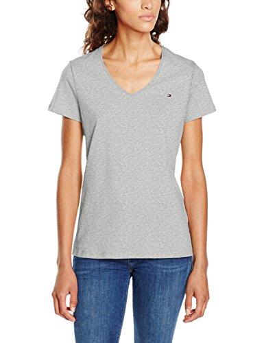 Tommy Hilfiger INJ Jeana V-NK Tee SS, T-Shirt Donna Grigio (Light Grey Htr 039)