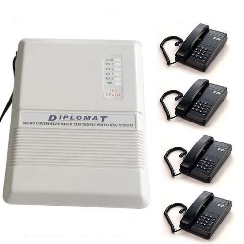 Diplomat EPABX 104 Intercom System and 4 Beetel Phone Set