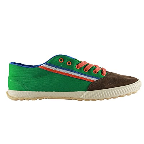 El ganso tigra canvas ribbon green