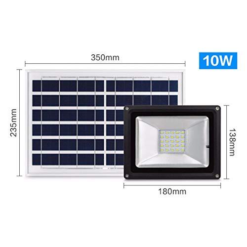 41Vlt2cXcXL - Las luces del paisaje Luz de inundación solar elegante impermeable de TGD 10W 30 LED IP65 con el panel solar teledirigido Fiesta de jardin