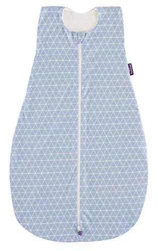 Träumeland S0200702 Sommerschlafsack LIEBMICH aus Baumwolle, Design Grafik Größe 60 cm, blau