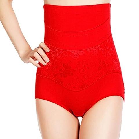 High Waist Cincher Shapewear Corset Tummy Control Abdomen Pant Underwear,HOMEBABY (xxl, red)
