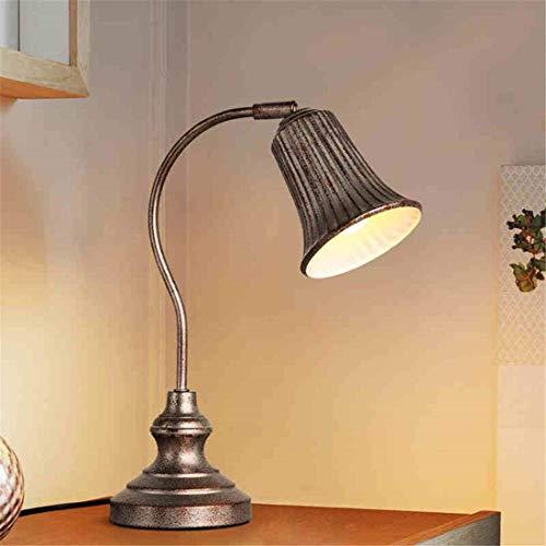 DEJ Amerikanischer Ländlicher Industrieller Wind Tun Altes Retro- Persönlichkeit E27 Gelbes Licht Augenschutzstudie Studie Schlafgemach Nachttischlampe 125 * 305 * 370Mm
