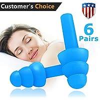 Ohrstöpsel 6Paar Geräuschunterdrückung wiederverwendbar Ohrstöpsel zum Schlafen und Schwimmen; Weich und bequem... preisvergleich bei billige-tabletten.eu