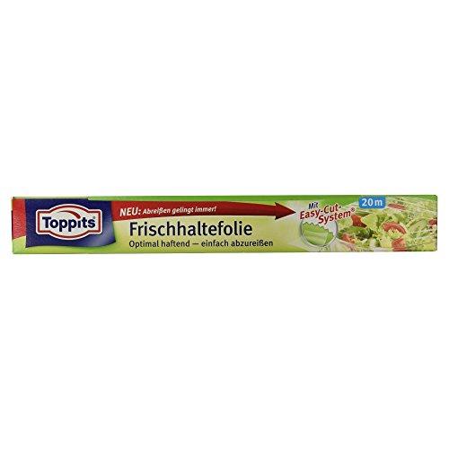 (Toppits Frischhaltefolie 20 m lang und extrabreit mit Abreißsäge)