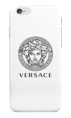 Schutzhülle / Handyschale mit Versace-Logo, für iPhone, aus Kunststoff, für Apple iPhone, plastik, Schwarz , iPhone 6