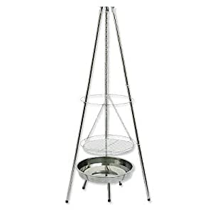 hi grill dreibein schwenkgrill holzkohlegrill edelstahl elektronik. Black Bedroom Furniture Sets. Home Design Ideas