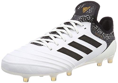 adidas Herren Copa 18.1 FG Fußballschuhe Weiß (Footwear White/Core Black/Tactile Gold Metallic) 42 2/3 EU