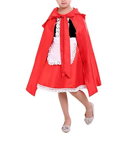 zhxinashu Kids Cute Halloween Kostüme Mädchen Rollenspiel Party Fancy Kleid mit Cape - Mädchen Cute Kids Kostüm
