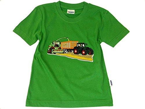 Zintgraf T-Shirt OEKO-TEX® Stickerei Traktor Maishäcksler JT12 (110, Grün)