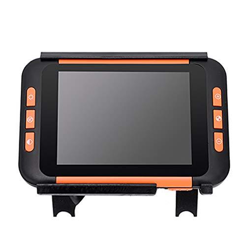 Saiko 3.5inch Elektronische Lesehilfe Leselupen, Tragbar 2X-32X Zoom Digital Lupe Low Vision Video Digital Magnifier 4 Arten Verschiedene Videofarbmodi (3.5 inch) (Video-lupe)