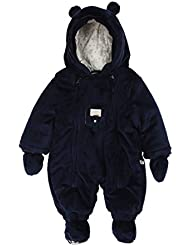 Kanz Unisex - Baby Schneeanzug Overall M. Kapuze + Abnehmbaren Fäustlingen