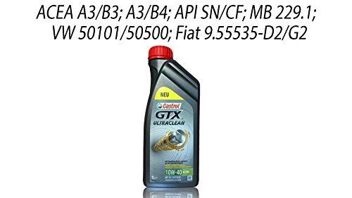 Castrol GTX Ultraclean 10W-40 A3/B4 Grey, 1x1 Liter