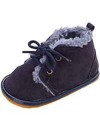 Allskid Recién Nacido Zapatos de bebé Niño Niñas Muchachos Calentar Vellón Caucho Antideslizante ...