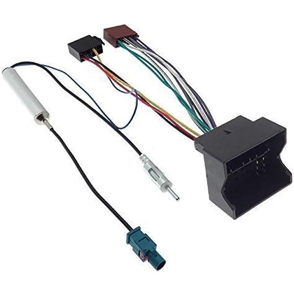 Radioadapter Quadlock Iso Citroen Peugeot Fakra Adapter Phantomeinspeisung Kabel Elektronik