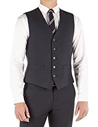 432a8b23ee7249 Limehaus Navy Micro Design Slim Fit Waistcoat LH1201241 by Suit Direct