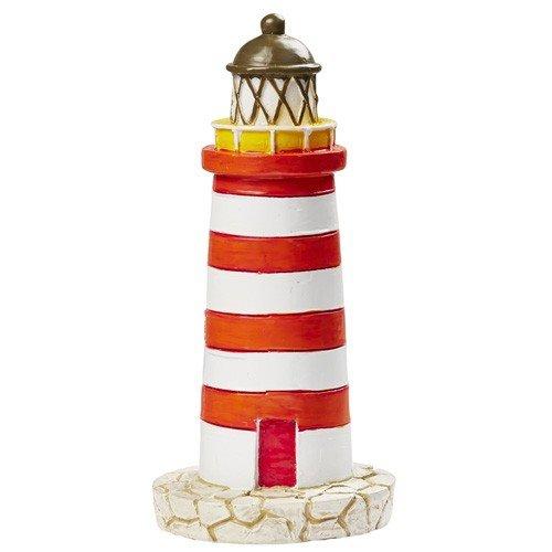 Preisvergleich Produktbild Leuchtturm in Rot/Weiß, 75 mm