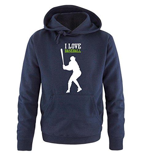Comedy Shirts -  Felpa con cappuccio  - Maniche lunghe  - Uomo navy / white-green