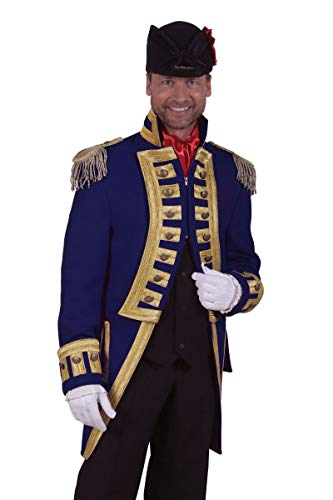 Thetru Herren Kostüm Admiral Jacke Garde Uniform blau Karneval Gr.L -
