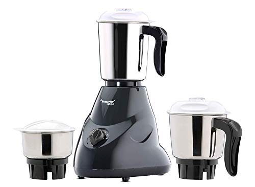 Butterfly Hero 500 - Watt Mixer Grinder With 3 Jars (Grey)