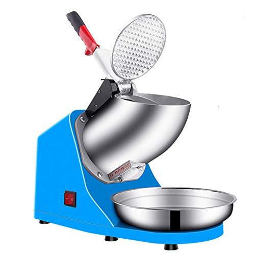 DGYAXIN Elektrische Ice Crusher Doppelmesser Eiszerkleinerer, Smoothies Eiscrusher Ice Shaver Maschine, 250W 65kg / H 1450R / M