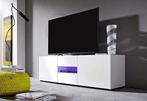 trendteam IM32001 TV Möbel Lowboard weiss Hochglanz lackiert - 6