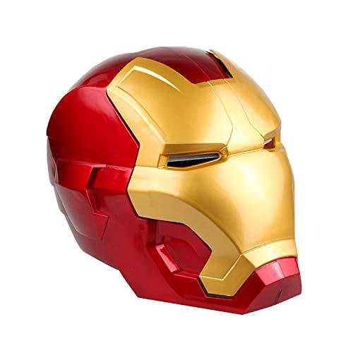Kostüm Elektronische - QWEASZER Iron Man Elektronischer Helm Erwachsene, Marvel Avengers Superheld PVC Integralhelme Halloween Film Cosplay Kostüm Requisiten,Iron Man A-23 * 18cm