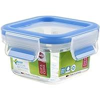 Emsa Clip&Close - Conservador Hermético de Plástico Cuadrado de 0,25L, higiénico, no retiene olores ni sabores 100% libre de BPA