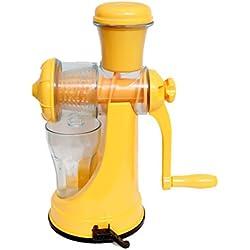 Super Deals - Apex Hand Maker Heavy Plastic Fruit & Vegetable Multi Juicer -Colour Orange- Sold By Super Deals
