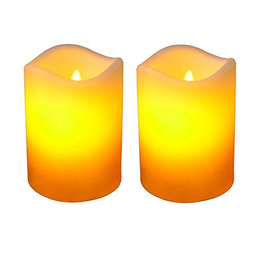 Giftgarden candele a led senza fiamma set di 2