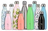 Chillys Bottles - Bottiglia riutilizzabile, a parete doppia, Argento, 750 ml