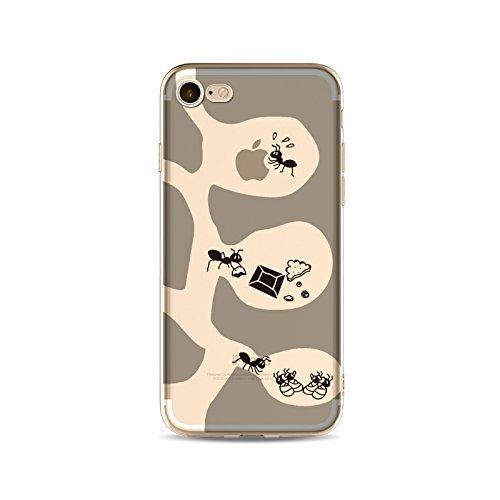 Coque iPhone 7 Housse étui-Case Transparent Liquid Crystal capture de rêve en TPU Silicone Clair,Protection Ultra Mince Premium,Coque Prime pour iPhone 7 (2016)-style 13 style 7