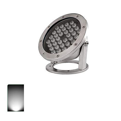 KMYX Wasserdichte LED-Projektor, 24 W, IP68, wasserdicht, für Unterwasseranlagen, für Teich, Schwimmbad und Schwanenhals 220V Weißes Licht -