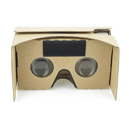 Google cardboard v2coinvolgente 3d vr realtà virtuale cartone vr headset con allungato da testa naso pad vr cartone occhiali per telefoni smartphone