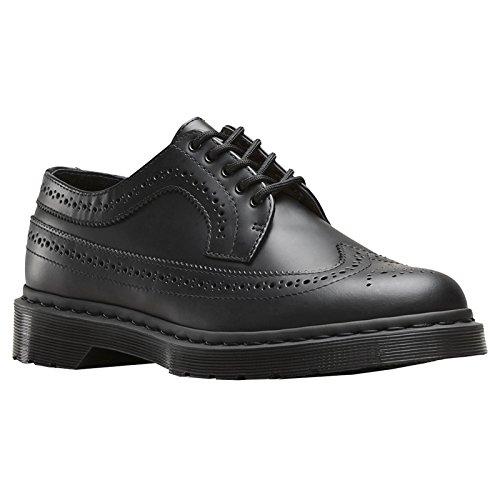 Dr. Martens 3989 MONO scarpa stringata stile inglese in pelle nera suola nera (43)