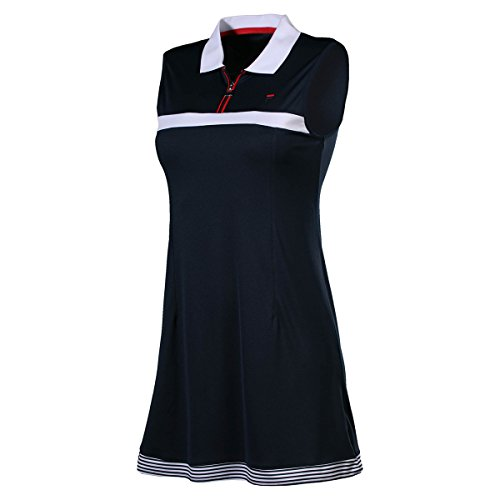 Fila Damen Dress Delia Women Kleider, dunkelblau, XL (Fila-tennis-kleid)