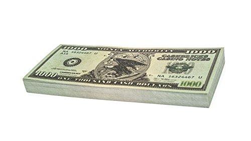 100 x $1.000 DOLLAR Cashbricks® Spielgeld Scheine
