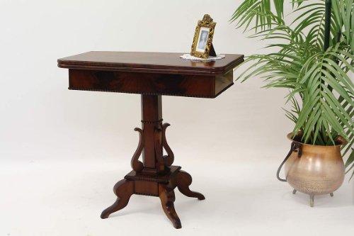 Antike Fundgrube Biedermeier Spieltisch Konsolentisch Mahagoni furniert um 1840