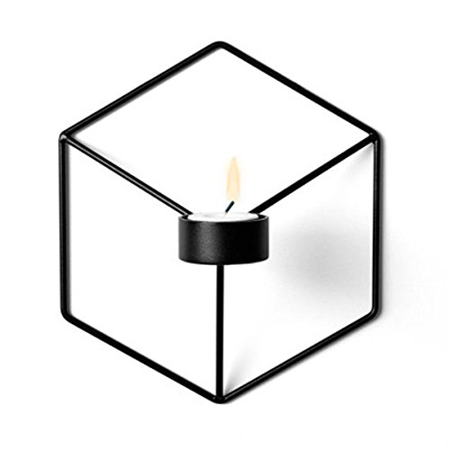 Wand Hängende Kerzen (Shopbibles Nordischer Stil 3D Geometrische Kerzenständer Metall Wand Kerzenhalter Leuchter Home Licht Dekoration Teelichthalter hängend Kerzenleuchter Wand Kerze Regal Wandleuchter Leuchter)