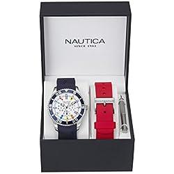 Nautica Reloj Analógico de Cuarzo para Hombre con Correa de Silicona – NAI13502G