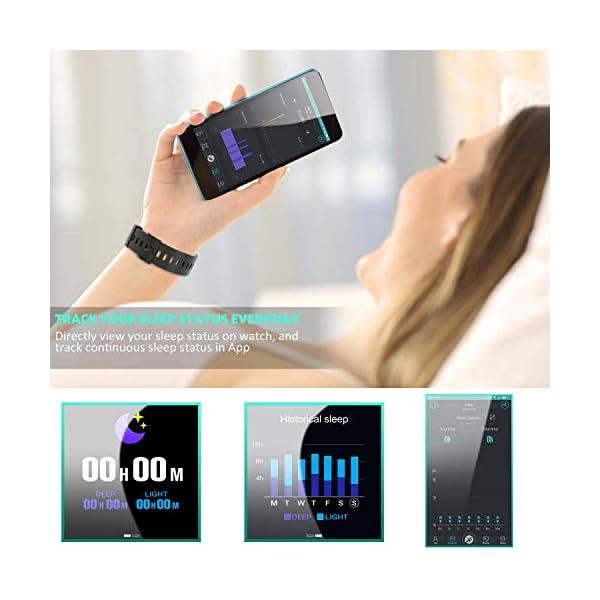 Hommie Smartwatch, S2 Reloj Inteligente con Pantalla Táctil Completa, Pulsera Actividad Inteligente ImpermeableIP67 con… 7