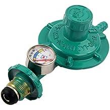 UKCOCO Regulador de gas propano con manómetro Indicador de nivel de manómetro para parrillas para barbacoa