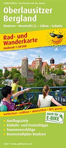 Oberlausitzer Bergland, Bautzen - Neustadt i.S. - Löbau - Sebnitz: Rad- und Wanderkarte mit Ausflugszielen, Einkehr- & Freizeittipps, wetterfest, ... 1:50000 (Rad- und Wanderkarte / RuWK)
